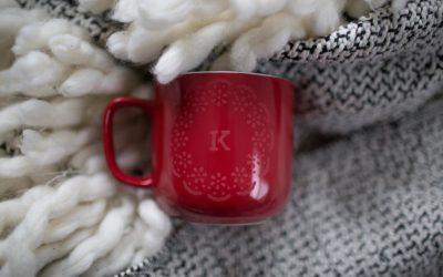 Etching on a coffee mug